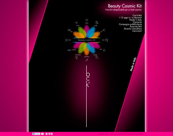 Beauty Cosmic kit  sito web