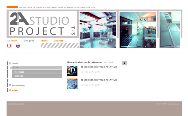 Sito web 2A Studio Project